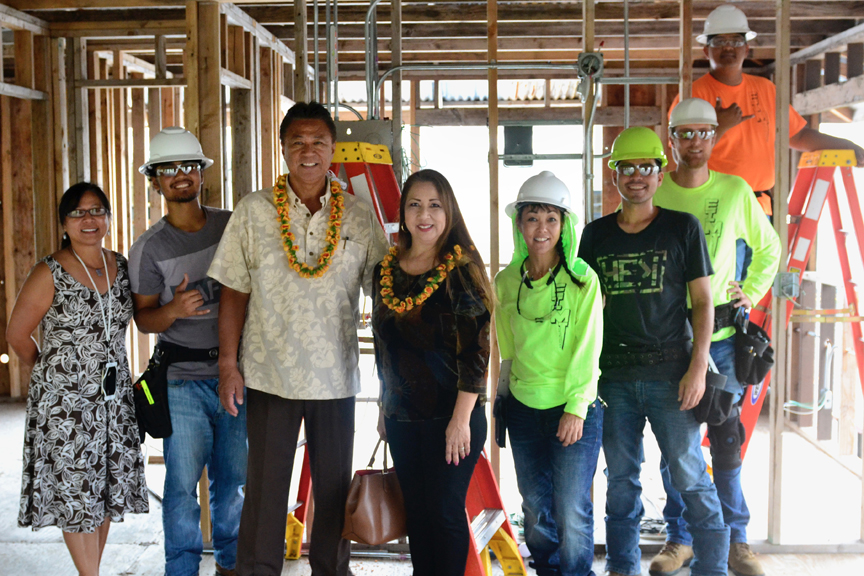 Leonard Tanaka, third from left, is the most recent Hawai'i CC Alumni of the Year. Tanaka is a 1976 Hawai'i CC Alumnus and owner of T&T Electric. Nominations are now open for this year's Alumni of the Year.